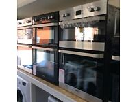 Electric oven single/double new 12 mths gtee