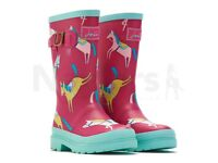 Joules Girls Horse Welly Boots Size UK 11