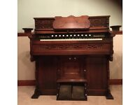 Original DW Karn & Co Mahogany Piano Cased Reed Organ Full Working Order Collection Only