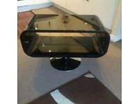 Black gloss TV stand can deliver