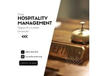 BSc (Hons) Business and Hospitality Management - Starting January 2022