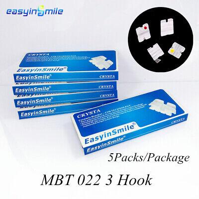 5packs Easyinsmile Orthodontic Brackets Dental Mini Mbt Brackets 022 3 With Hook