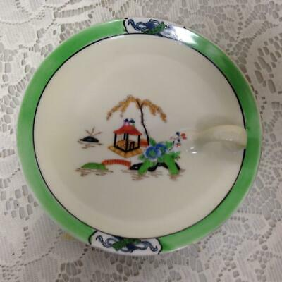 Antique Noritake Moriyama Polychrome- Gaudy Blue Willow, Cheese or Tea Bag Plate
