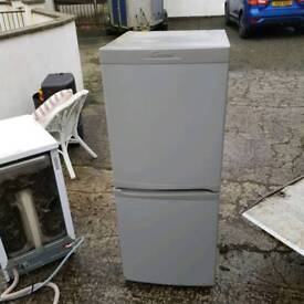 silver half and half fridge freezer ( GUARENTED WORKING )