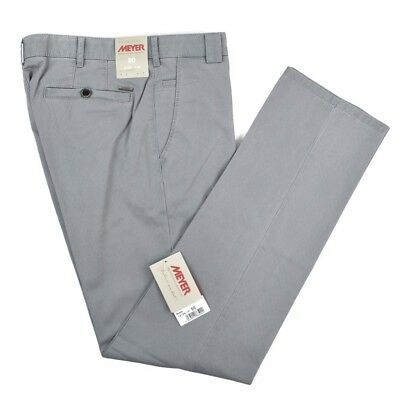$295 NWT MEYER Roma Gray Dotted Cotton Flat Front Pants Trousers Jeans 50 / 34