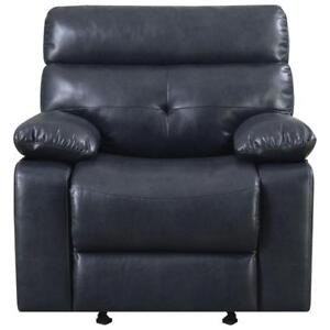 My Style Collection Ebba Premium Leatherette Recliner Chair - Slate  (Assembled)