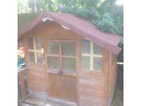 Wooden playhouse / den