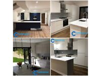 Specialist kitchen and bathroom fitters with our own kitchen range available