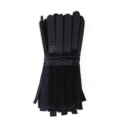 """100 pcs 5"""" Nylon Fastener Cable Ties Tidy Straps Network Cabling Organiser Black"""