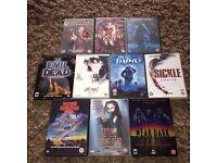 Horror DVD Job Lot x 10 Evil Dead 1 & 2,The Thing,Ghost ship,Resident Evil etc