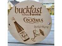 Various Laser cut engraved wooden signs