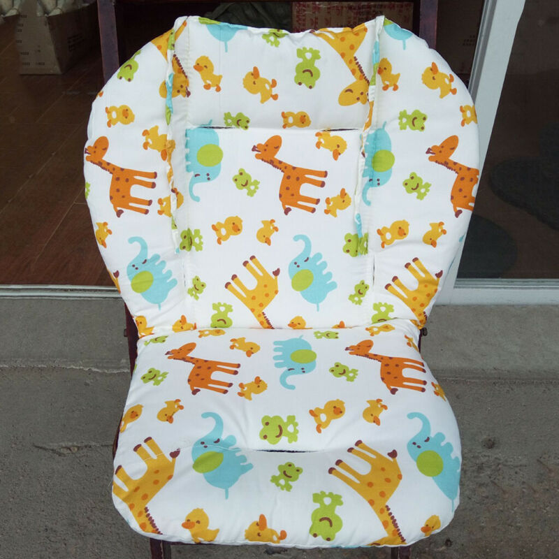 Baby Stroller / High Chair Seat Cushion Liner Replacement with StrapsMat Pad