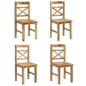 Dining Chairs 4 pcs Solid Mango Wood EM0-246709