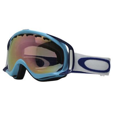 c4e8b4ca496 Oakley 57-797 Crowbar Crystal Blue w VR50 Pink Lens Unisex Snow Ski Goggles  .