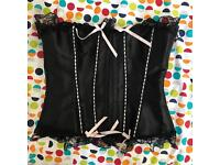 Black and Baby Pink Corset, Large
