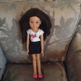 Doll with long brown hair fashion doll