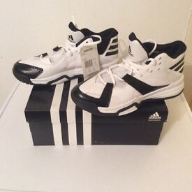 Adidas First Step basketball boots UK size 8 new with box