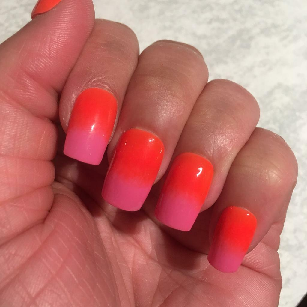 Pink & Orange Ombre False Nails | in Newcastle, Tyne and Wear | Gumtree