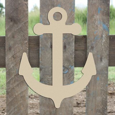 Anchor Shape, Unfinished Shape, MDF Wood Anchor Cutout, Wooden Paintable Craft](Unfinished Wooden Anchor)