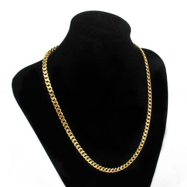 figaro mens product inch solid necklace link yellow gold chain