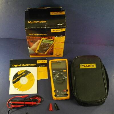 New Fluke 77iv Multimeter Original Box Bonus Case