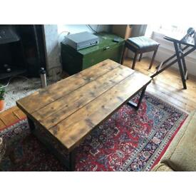 Gorgeous Industrial-Chic Coffee Table