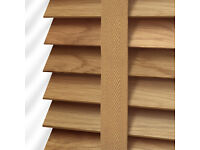 Oak Wooden Blind with Tapes - 35mm Slat ( RRP £189, my price is only £25 )
