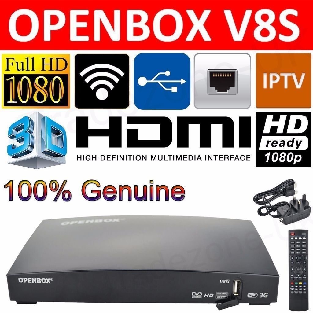 Openbox v8's with 12 Month Warranty/Gift Fully Loaded