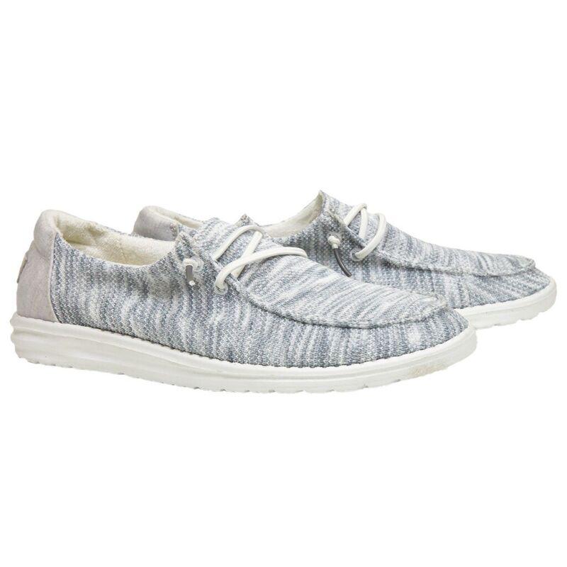 Hey Dude Ladies Wendy Sox Glacier Grey Shoes 121922672