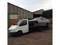 FORD TRANSIT SMILEY FACE CAR TRANSPORTER RECOVERY TRUCK BANANA ENGINE 15' BED