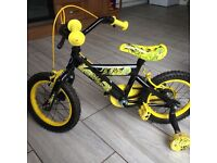 """Childs Bicycle With 14"""" frame Like New Cost £120!!"""