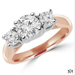 BAGUE 3 DIAMANTS 1.50 CARAT TOTAL / THREE STONE DIAMOND RING 1.50 TOTAL CARAT WEIGHT