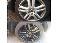 "Jaguar 18"" alloy wheel and tyres"