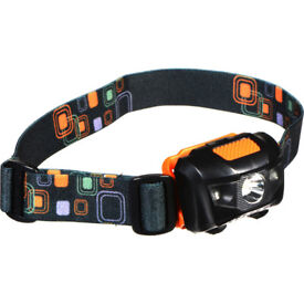 SHINING BUDDY 200 LATEST HALO FACED LED HEAD LAMP RED & WHITE LIGHT BLACK ORANGE