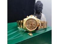 New boxed & bagged all gold rolex daytona