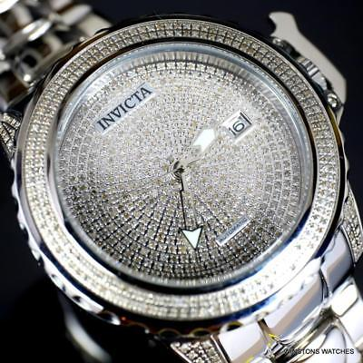 Invicta Subaqua Noma II 2.96 CTW Diamond Pave Automatic Steel 47mm Watch New