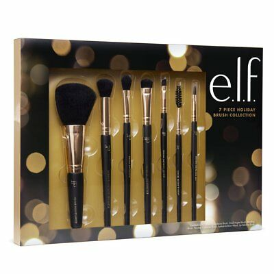 Elf Make Up (Makeup Brush Collection Limited Edition 2017 Eyes Lips Face ELF 7 Piece)