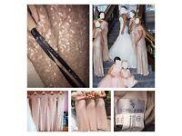 3 rose gold bridesmaid dresses