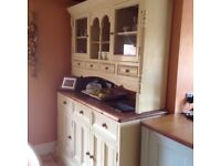 Kitchen dresser, solid pine part painted and distressed