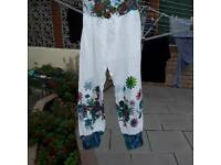 Ladies casual summer trousers size 12/14 100% cotton
