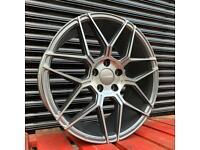 """Veemann V-FS38 Alloys 18"""" 5x112 Graphite Machined VW Golf Audi A3 Seat Skoda"""