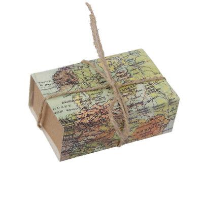 Bulk 50pcs Candy Gift Box Wedding Favors World Map Paper Wrapper ()