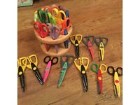 Carousel of craft scissors