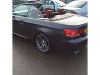 Very Rear gun metal With Dark Red Leather Seats BMW 3 SERIES 3.0 325i M Sport 2dr (Automatic)