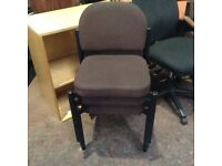 Fabric Chair - Brown Stackable Chair