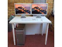 """2009 Mac Pro 5, 1   3.33GHz 6-Core 240GB SSD 16GB Ram w/ 2 x 20"""" Apple HD Displays & ATI Radeon 5870"""