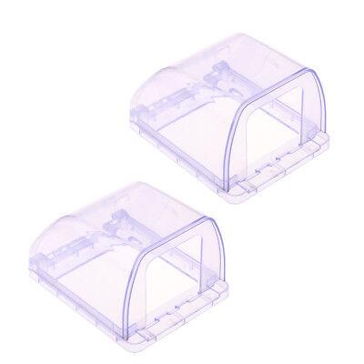 2x Wasserdichte Steckdose Schutz Gehäuse aus Plastik - Wasser-steckdose Gehäuse