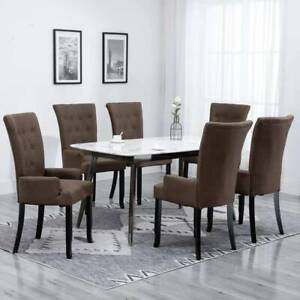 FREE SHIPPING Dining Chairs with Armrests 6 pcs PDAE0-42G3Q-276913