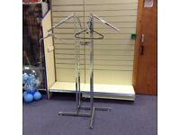 Chrome Waterfall Arm Clothes Stands