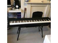 Yamaha keyboard, stand, pedal